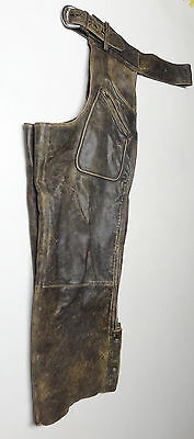 Harley Davidson Distressed Leather Panhead Chaps Lined Mens Xl X- Large      143