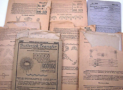 Vintage Iron-On Transfer Patterns Embroidery Smocking Butterick Pictorial Review