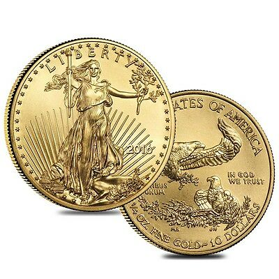 Lot of 2 - 2016 1/4 oz Gold American Eagle $10 Coin BU