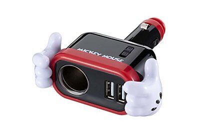 NAPOLEX Disney Car Goods Illuminating socket D1USB2.4A Mickey WD-323 Japan