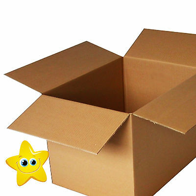 "20 x LARGE Cardboard Storage Packing Boxes 24x18x18"" SW"
