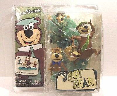 Hanna-Barbera Yogi Bear Series 2 Toy Set of 3 Figures Yogi Ranger & Boo Boo NEW