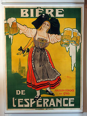 A3/A4 Size - Beer French Lady Vintage Art Print Poster  # 34