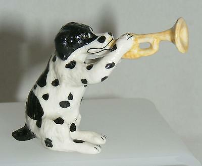 Klima Miniature Porcelain Animal Musician Dog with Trumpet K144