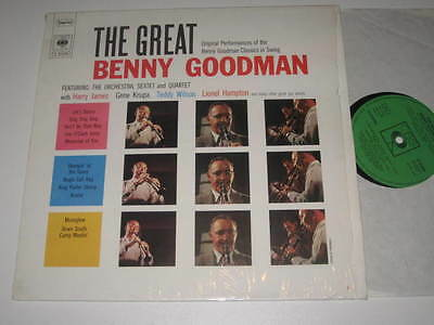 Lp/the Great Benny Goodman/krupa/james/wilson/hampton/cbs 52688