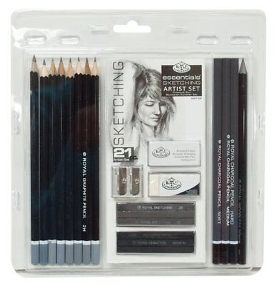 Set Sketching Drawing Pencil Pencil Set 21-Piece Graphite -Sketch Sticks