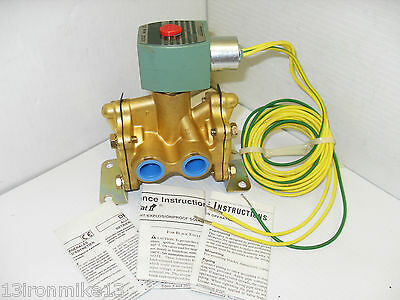 "NEW ASCO HCL8316G66MB 3-Way SOLENOID VALVE 1/2"" 125 DC HLC 8316G66 MB"