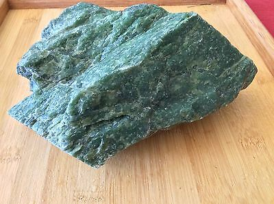 Green Jade Rough Russian Nephrite Jade Nice Translucency 2.8 kg