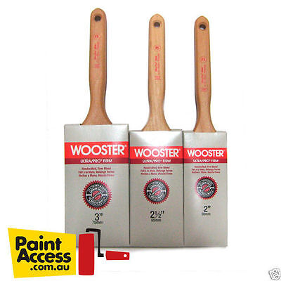 Paint Brush/ Pack of 3 Wooster ULTRA/PRO® FIRM MINK Flat Sash 50, 63, 75mm