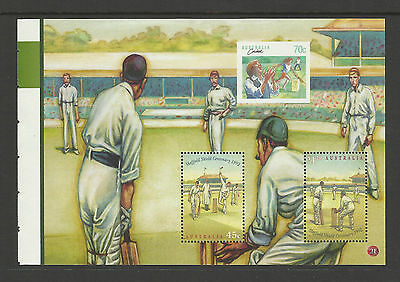 AUSTRALIA 2007 SHEFFIELD SHIELD 1992 2v Souvenir Sheet