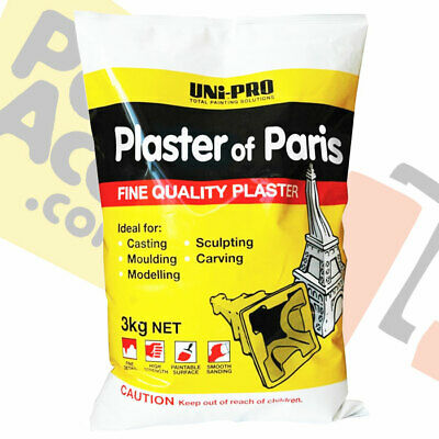 Plaster/ Uni-Pro Plaster of Paris 3kg/ Moulding/Sculpting/Casting
