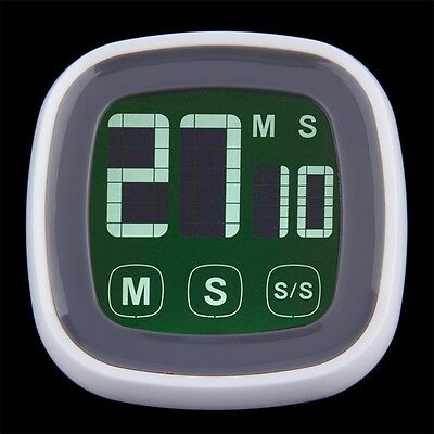 Digital Touch Screen LCD Kitchen Timer Counts Up Down  Backlit Magnet UR