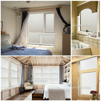 90cm x 3m Sand Blast Clear Privacy Frosted Frosting Removable Window Glass Film