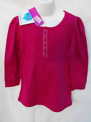 BNWT Girls Sz 10 Very Pretty Hot Pink Long Sleeve Top