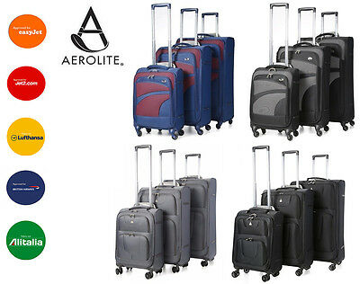 Aerolite Quality Super Lightweight Luggage 4 Wheel Spinner Suitcase Sets/S/M/L