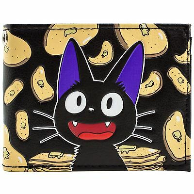 New Official Studio Ghibli Kiki's Delivery Service Black Id & Card Bifold Wallet