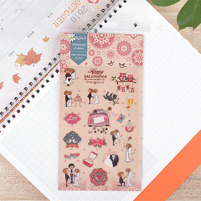 1 sheet happy valentine Filofax notebook diary Planners paper Decoration sticker