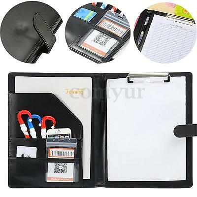 A4 PU Leather Business Conference Portfolio Folder Document File Papers Holder
