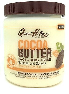 Queen Helene Cocoa Butter Creme for Face + Body extreme Dry Skin 15 oz