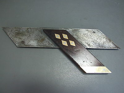 """Rosewood & brass mitre square 9 3/8"""" by Hearnshaw Bros"""