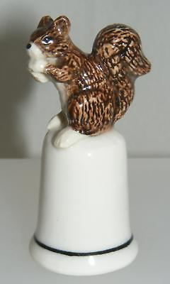 Klima Miniature Porcelain Squirrel with Nut on Thimble L162