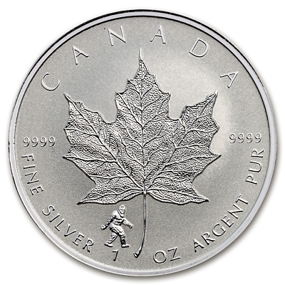 2016 Canada Maple Leaf Big Foot Privy 1 oz .9999 Silver Reverse Proof Coin