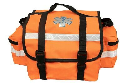 "First Responder Paramedic Rescue EMT Trauma Bag Orange 17""x 9""x 7"""