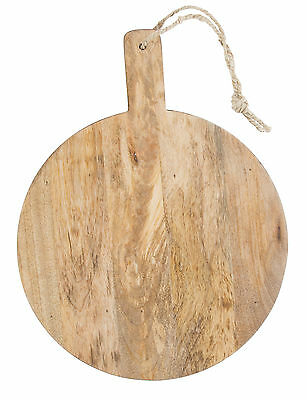 NEW Mango Wood Round Serving Board
