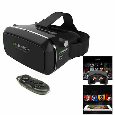 3D VR Virtual Reality Glasses Headset Fr 4''-6'' phone iPhone 6s Plus+Controller