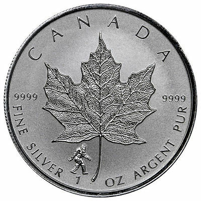BIGFOOT PRIVY - 2016 1 oz Canadian Silver Maple Leaf Reverse Coin - IN-STOCK!!