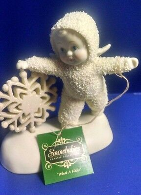 """Snowbabies """"What a Flake"""" Retired Collectible #811836"""