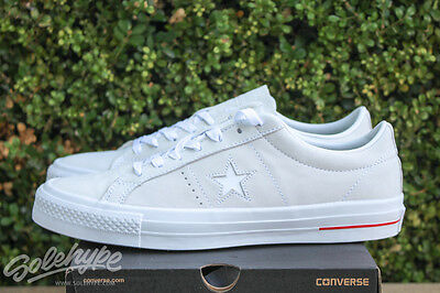 949a708227d7d3 Converse All Star Chuck Taylor One Star Pro Ox Sz 8.5 White Red Blue 151433C