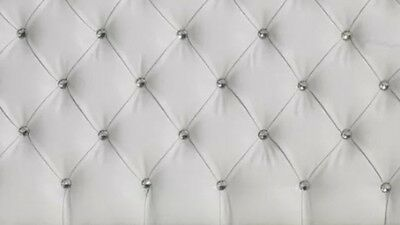 Crystal Diamante Bedworth Faux Leather Headboard in 2ft6,3tf,4ft,4ft6,5ft,6ft