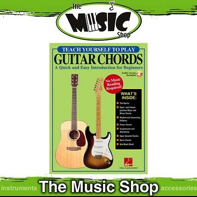 New Teach Yourself to Play Guitar Chords for Beginners Music Tuition Book & OLA