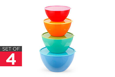 NEW Ovela Bowl Set Save & Store Food 8 Piece Colour Mixing Food Storage