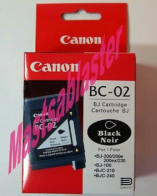 Genuine Canon BC-02 FAX Cartridge, in orignal SEALED TUBS