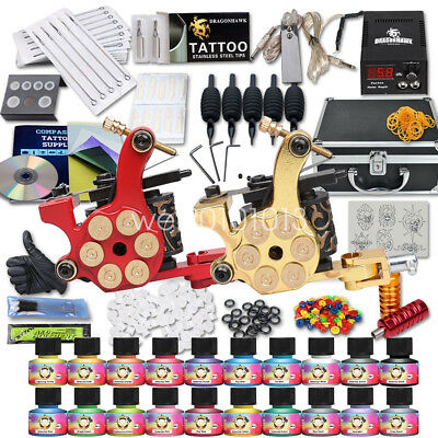 Tätowierung Tattoo Kit Komplett Tattoo Set DE Inks 2 Tattoo maschine HW-10ED-10