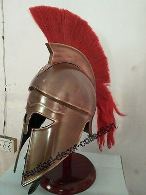 Brass Medieval Roman King Leonidas Spartan Helmet 300 Movie Helmet Collectibles