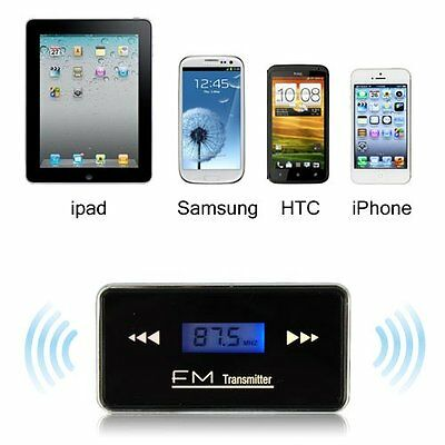 3.5mm Jack Stereo Radio FM Transmitter For iPhone 6 6S+Plus Samsung HTC LG Phone