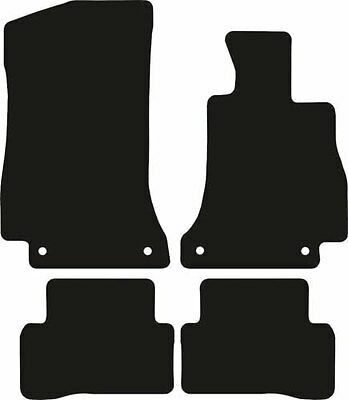 Mercedes C Class (2014-Date) New Black Carpet Fully Tailored Car Floor Mats