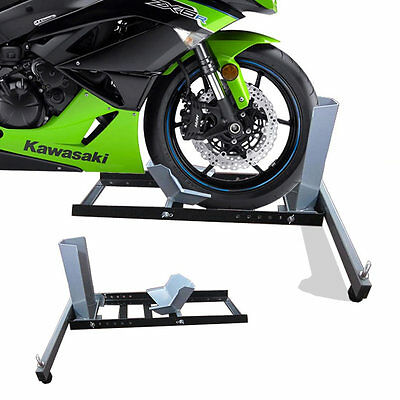 Motorcycle / Motorbike Front Wheel Stand Chock Stay Stand Bike Secure New