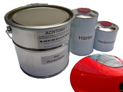 1,75 Liter Set 2K Car paint Ferrari 300 Rosso Red Lackpoint no clear coat Tuning