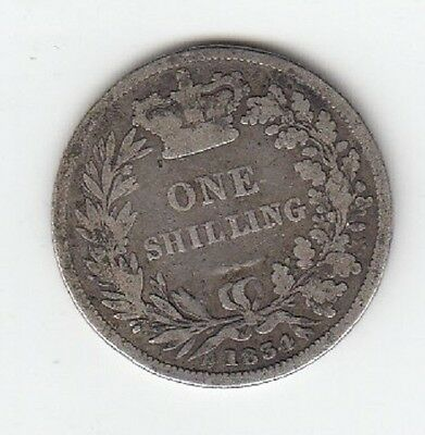 1834 King William Silver Shilling - Nice Coin! (J)