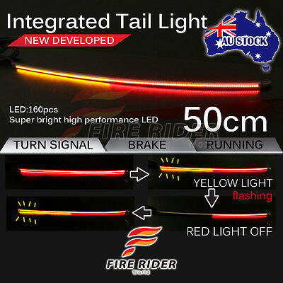 FOR Universal Motorcycle FRW 50cm LED Integrated Tail Light Brake Turn Signal