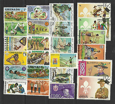 BOY SCOUTS Collection Packet 100 Different WORLD Stamps