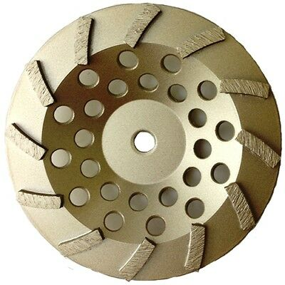 "7"" Diamond Cup Wheel Turbo Swirl 12 Segs Arbor: 5/8""-11 for Grinding Concrete"
