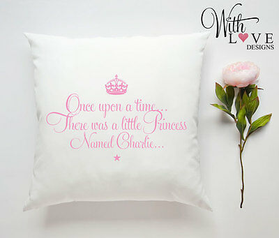 Little Princess New Baby Girl Personalised Custom Pillow Cushion Gift Present