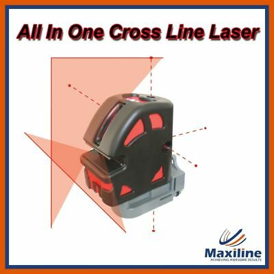 Maxiline Self Leveling Cross Line Laser Level 1V1H with 5 Dots & Receiver Tripod