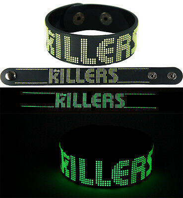 THE KILLERS  NEW! Bracelet Wristband gg139 Glow in the Dark/Battle Born