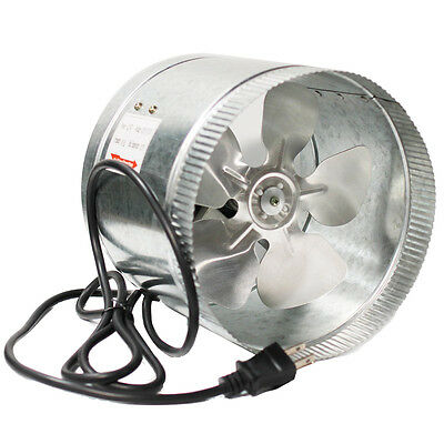"""10"""" Inch Booster Fan Inline Blower Exhaust Ducting Cooling Vent HPS Hydroponic"""